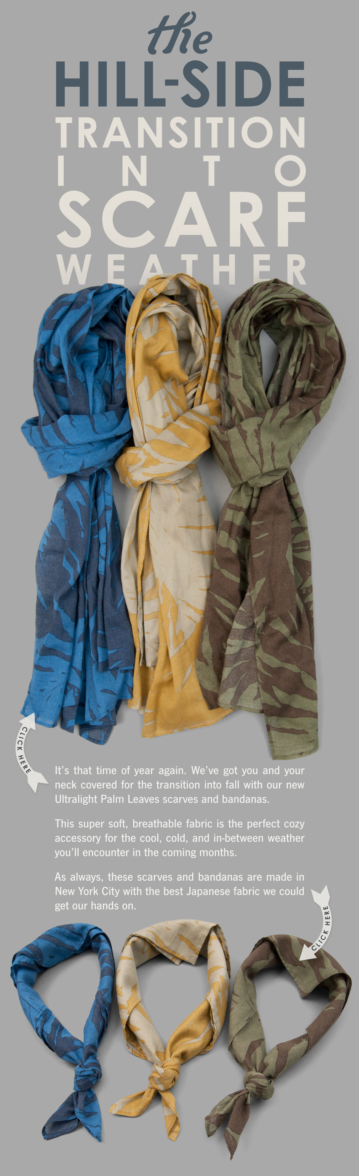 Ultralight Palm Leaves Scarves and Bandanas