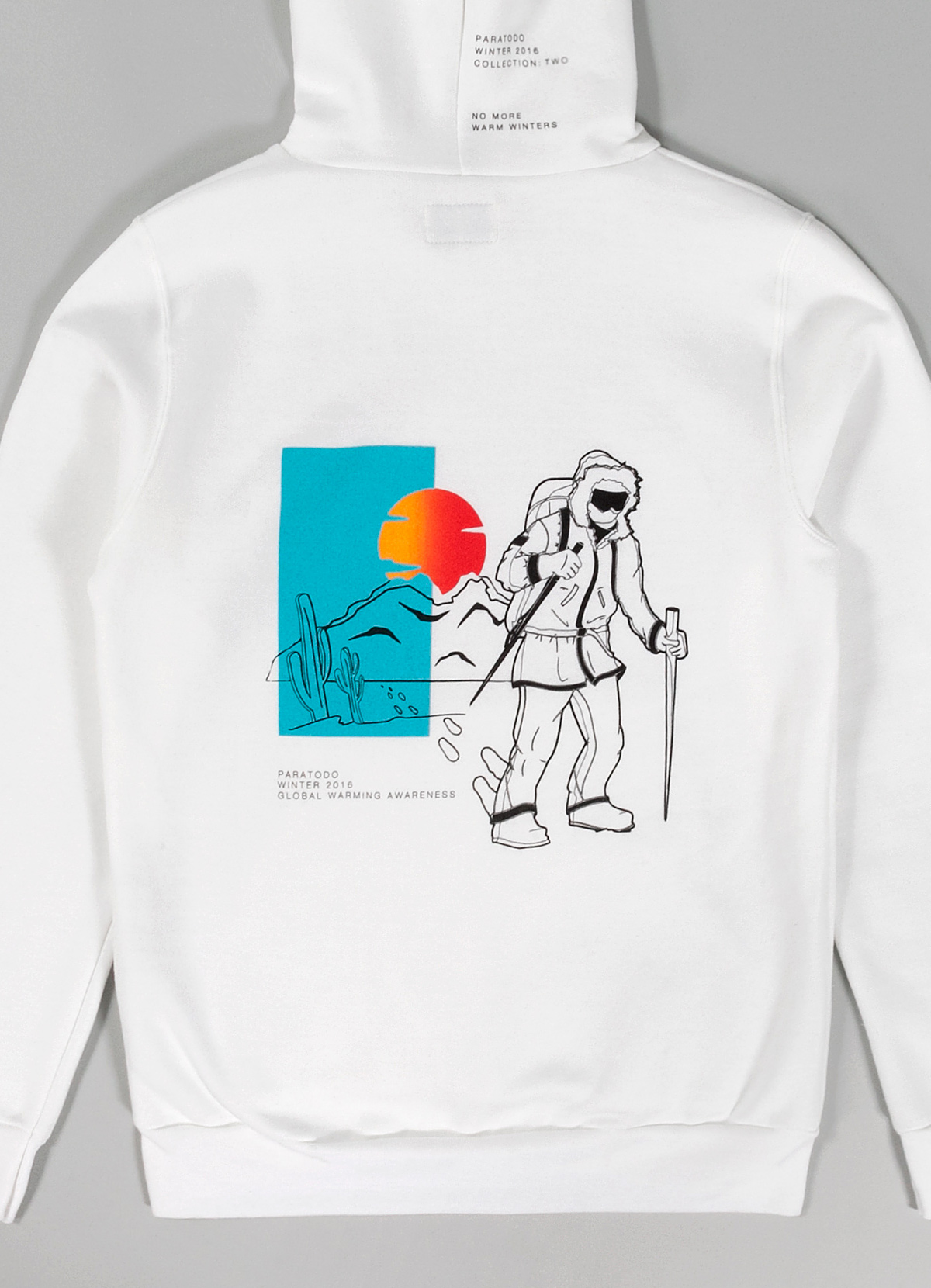 Paratodo Trek Sweatshirt, White