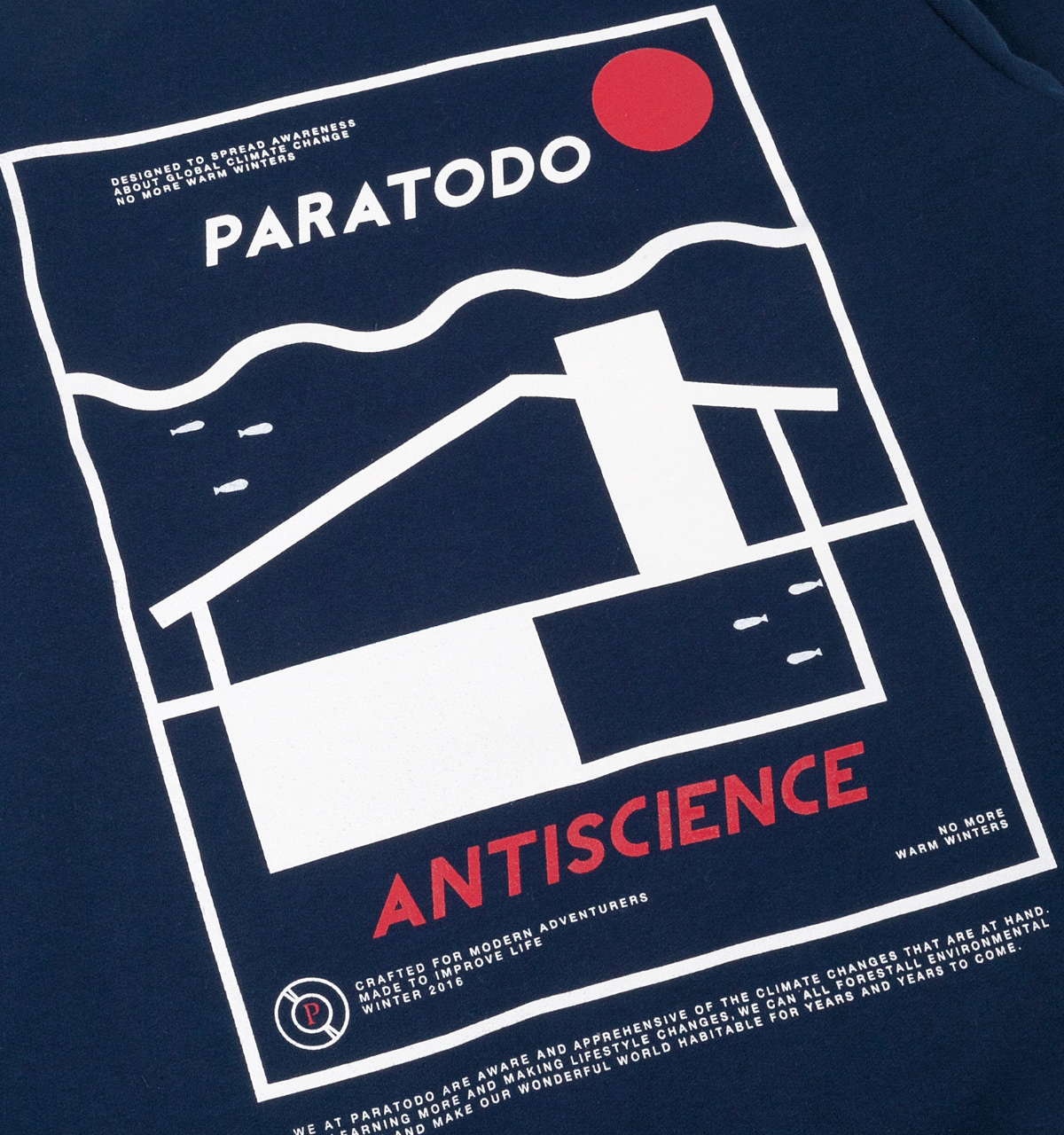 Paratodo Antiscience Sweatshirt, Navy