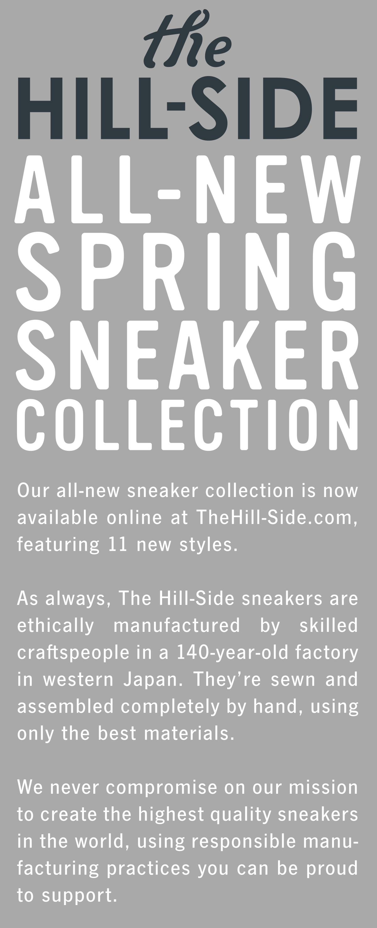 All-New Spring Sneaker Collection