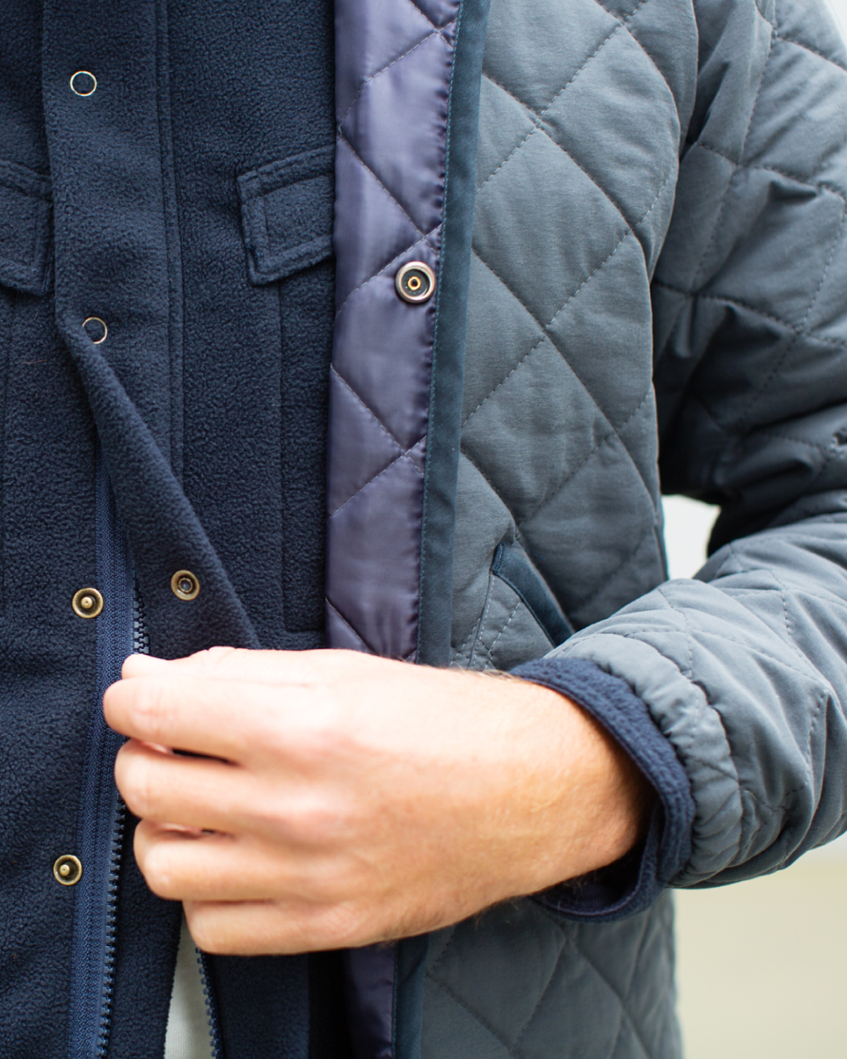 The Hill-Side Quilted Ueno Jacket, Slate Blue