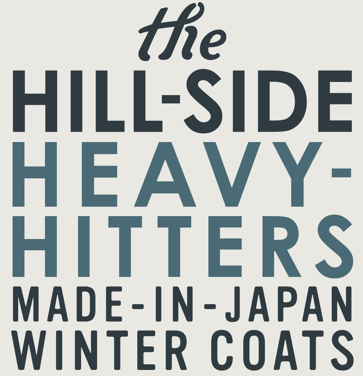 Made-In-Japan Winter Coats