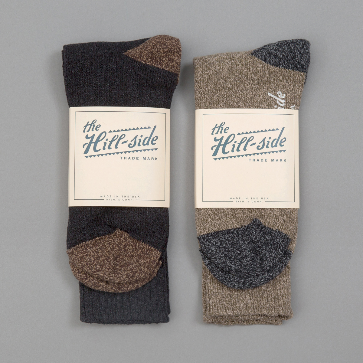 Mixed 2-Pack Socks, Black and Olive