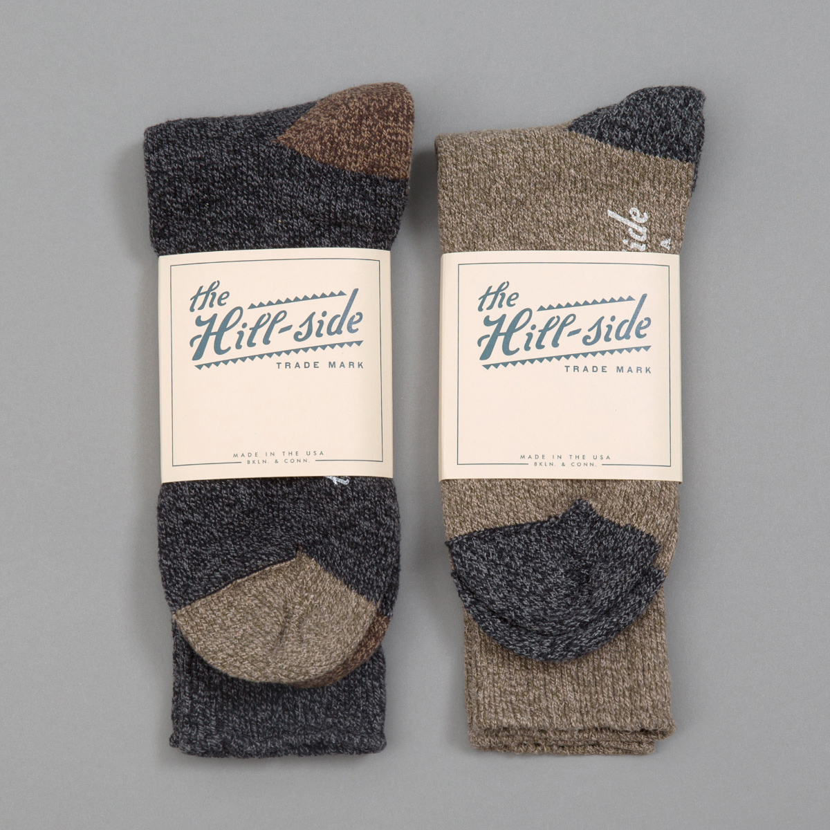 Mixed 2-Pack Socks, Charcoal and Olive