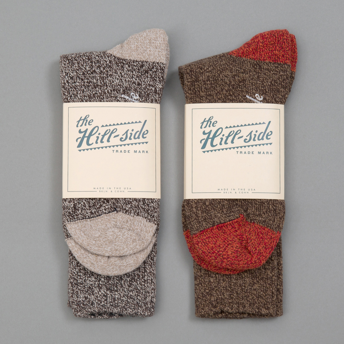 Mixed 2-Pack Socks, Salt & Pepper and Brown