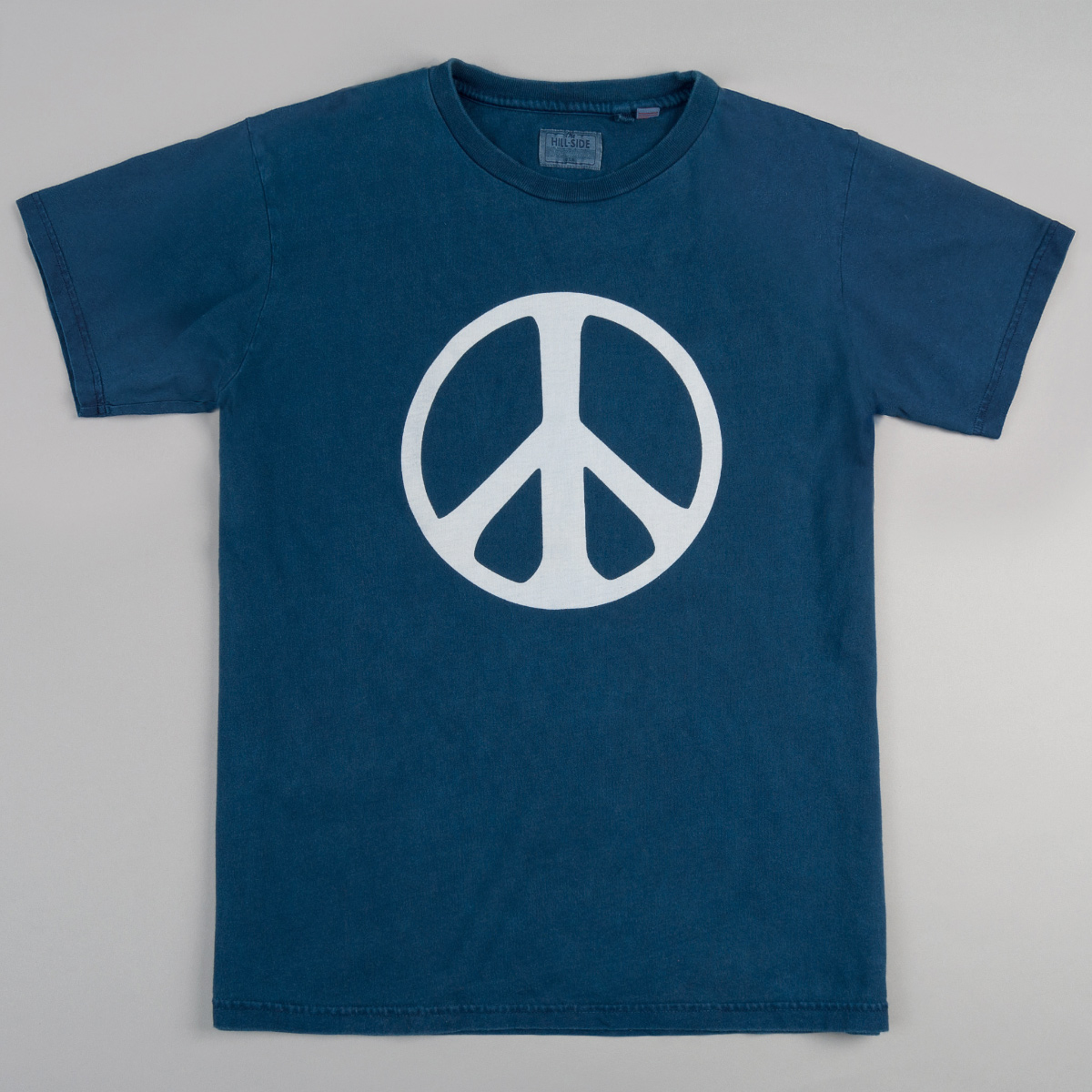 The Peace Sign T-Shirt, Indigo Bassen Print