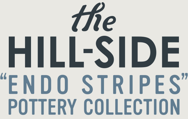 The Hill-Side Endo Stripes Pottery Collection
