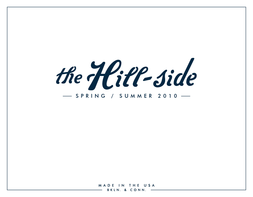 The Hill-Side Spring/Summer 2010 Lookbook, Cover Image